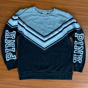XS PINK pullover black and gray